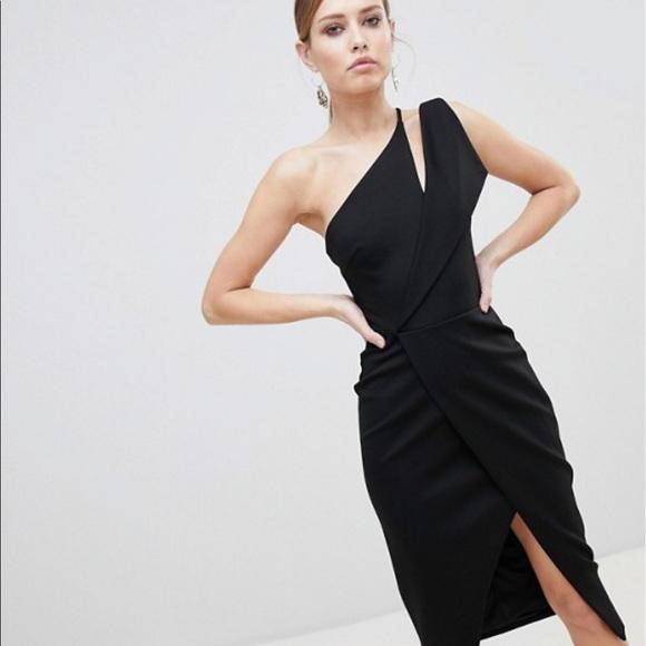 Lavish Alice Dresses   Skirts - Lavish Alice One Shoulder Midi Wrap Dress 7c8027b6e
